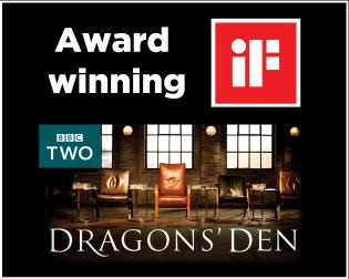 dragons den award